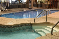 In-Ground Pools on display inside our store.