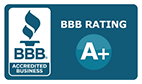 BBB Better Business Bureau logo and A rating