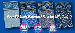 Fast Installation Over 80 Pool Liner Patterns
